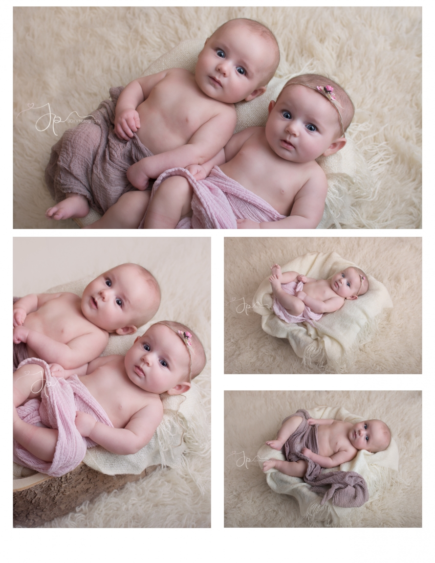 twin 3 month session by joy photography ohio baby photographer